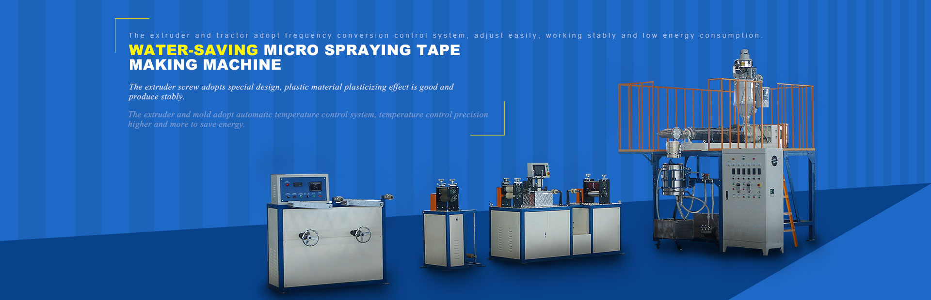 micro spraying water tape making machine